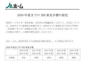 【お知らせ】 ZEH普及目標
